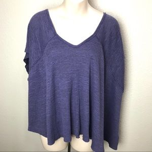 Free People We The Free Ribbed Boxy Dolman Tee S